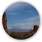 Arches National Monument Round Beach Towel
