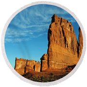 Round Beach Towel featuring the photograph Arches National Park 47 by Jeff Brunton