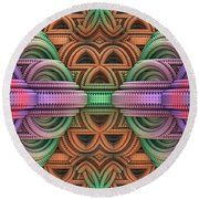 Architopia Round Beach Towel