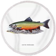 Arctic Char Male Round Beach Towel