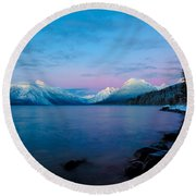 Round Beach Towel featuring the photograph Arctic Slumber by Aaron Aldrich