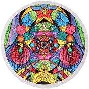 Arcturian Ascension Grid Round Beach Towel