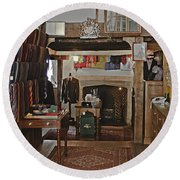 Round Beach Towel featuring the photograph Are You Being Served ? by Terri Waters