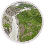 Arial View Of Turnback Canyon, Alsek Round Beach Towel