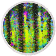 Arizona Abstract I Round Beach Towel