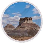 Arizona Desert And Mesa Round Beach Towel by Jeff Goulden