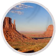 Arizona Monument Valley Round Beach Towel