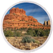 Arizona Sedona Bell Rock  Round Beach Towel
