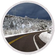 Arizona Snow 2 Round Beach Towel
