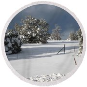 Arizona Snow 3 Round Beach Towel