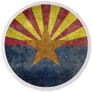 Arizona State Flag Round Beach Towel