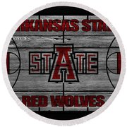 Arkansas State Red Wolves Round Beach Towel