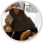 Armor Of God Round Beach Towel