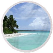 Round Beach Towel featuring the photograph Arno Island by Andrea Anderegg