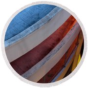 Round Beach Towel featuring the photograph Around And Down by Greg Allore