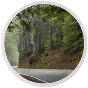 Around The Bend Round Beach Towel by Dustin  LeFevre