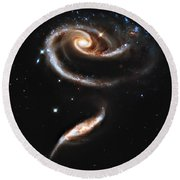 Arp 273 Rose Galaxies Round Beach Towel