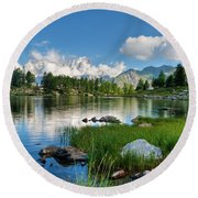 Arpy Lake - Aosta Valley Round Beach Towel