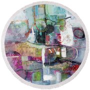Art And Music Round Beach Towel