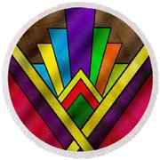 Art Deco Pattern 7v Round Beach Towel