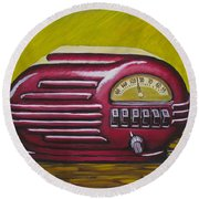 Art Deco Radio Round Beach Towel