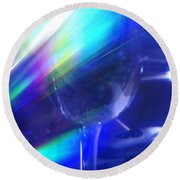 Art Glass Round Beach Towel by Martin Howard