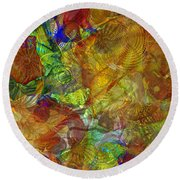 Art Glass Overlay Round Beach Towel by Tikvah's Hope