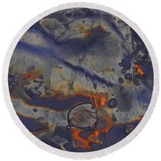 Art Of Ice 5 Round Beach Towel
