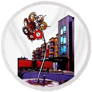 Art On The Ave Round Beach Towel by Sadie Reneau