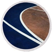 Art On The Basketball Court  11 Round Beach Towel by Gary Slawsky