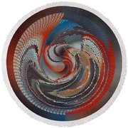 Art On The Bottom Of The Basket Round Beach Towel by rd Erickson