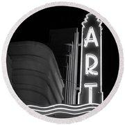 Art Theatre Long Beach Denise Dube Round Beach Towel