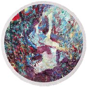 Artist Of Its Own Beauty And Delight Round Beach Towel