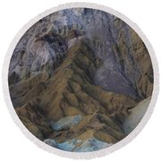 Artist Palette Round Beach Towel by Brad Scott