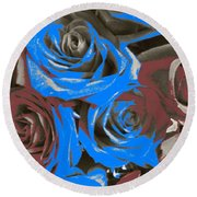 Round Beach Towel featuring the photograph Artistic Roses On Your Wall by Joseph Baril