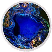 Artists Bisbee Velvet Beauty Azurite Round Beach Towel