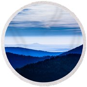 As Far As Our Eye Can See Round Beach Towel