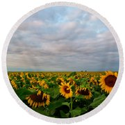 Round Beach Towel featuring the photograph As Far As The Eye Can See by Ronda Kimbrow
