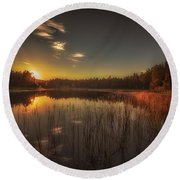 Round Beach Towel featuring the photograph As In A Dream by Rose-Maries Pictures