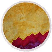 Ascension Original Painting Round Beach Towel