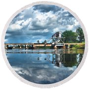 Ashepoo Train Trestle Round Beach Towel