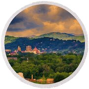 Asheville North Carolina Round Beach Towel