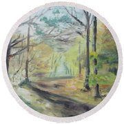 Ashridge Woods 2 Round Beach Towel