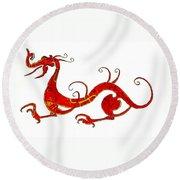 Asian Dragon Round Beach Towel