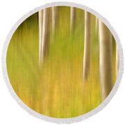 Aspen Abstract Round Beach Towel