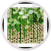 Aspen Colorado Abstract Square 2 Round Beach Towel