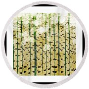 Aspen Colorado Abstract Square 3 Round Beach Towel