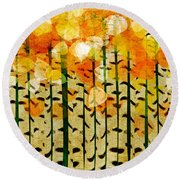 Aspen Colorado Abstract Square 4 Round Beach Towel