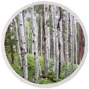 Aspen Forest Round Beach Towel