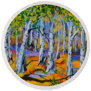 Aspen Friends In Walkerville Round Beach Towel